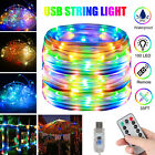 10M 100 LED Dimmable String Fairy Lights Copper Wire USB Home Decor Waterproof