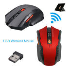 Wireless Gaming Mouse Optical Mice Adjustable DPI W/ USB Receiver For PC Laptop