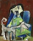 A Woman With A Dog By Pablo Picasso Paint By Number DIY Painting Artwork Art