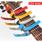 Guitar Capo Acoustic Electric Trigger Quick Change Key Clamp US
