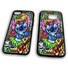 Stich Stained Glass Disney Cartoon Funny Lilo Colourful Tpu Phone Case Cover