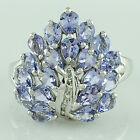 Tanzanite 2.60 Ct With Genuine Diamond Ring Solid Gold Christmas Event Jewelry