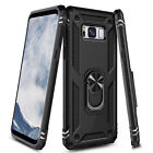 For Samsung Galaxy S8/ S8 Plus Case Ring Stand Phone Cover with Screen Protector