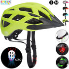 Casco de ciclismo para niños ajustable con luz de advertencia LED talla...