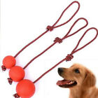 Rope Handle Solid Rubber Ball Pet Puppy Toys Dog Chew Toy Pet Puppy Chew Toys