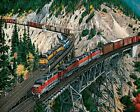 Train Union pacific Keddie Wye Trains Paint By Numbers Kit Painting