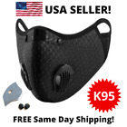 USA Activated Carbon Air Purifying Face Mask Cycling Reusable Filter Haze Valve