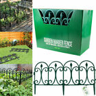 Garden Border Plastic Fence Green Lawn Edging Fencing Flower Beds Picket Fence