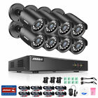 ANNKE 5MP Lite 8CH DVR 1080P Outdoor Security Camera System H.265+ EXIR Motion