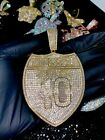 Mens Ice Out Famous Interstate I-10 Big Charm Pendant For Upto 20MM Cuban Chain