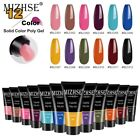 MIZHSE Polygel Nail Acrylic Poly Gel Pink White Clear Crystal UV LED Quick Exten