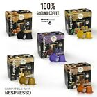 Nespresso Compatible Coffee Capsules Flavored Espresso Pods Premium Blend 100 CT