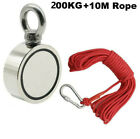 10-500kg Pull Salvage Strong Recovery Magnet Fishing Treasure Neodymium +Rope