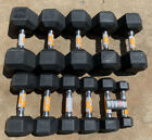 CAP  Weider Rubber Hex Dumbbells 5 - 50 lbs Lot   Choose Singles or Pairs