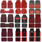 Red All Weather Heavy Duty Universal Car Floor Mats for Auto Van Truck SUV $38.9 USD on eBay