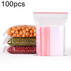 100Pcs Clear Reclosable Self Seal Food Storage Pouch Waterproof Bags Pretty