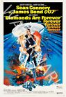 Diamonds Are Forever - 1971 Sean Connery - James Bond Movie Poster $44.95 AUD on eBay