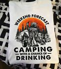 Beer Bear Weekend Forecast Camping With A Chance Of Drinking Cotton T-Shirt