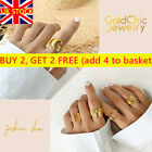 Adjustable Lady's Golden A-Z Letter Rings Fashion Silver Rose Gold Initial Ring-