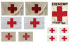 1:35 Red Cross flags on cotton canvas / cotton peel.diorama military set 1