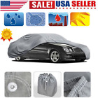 S-xxl Peva Car Cover Sun Uv Dust Rain Resistant Protection With Reflect Light