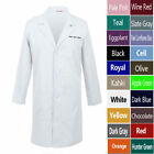 Custom Embroidered Men's Lab Coat Laboratory Doctor Workwear