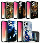 For iPhone XS,XR,XS Max Eagle Peacock Deer Wolf Horse Hidden Wallet Case