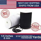 Kyпить Elastic Band 1/4 inches width (6mm) White/Black 5 yard to 500 Yards на еВаy.соm