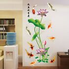 9 Fishes Lotus Wall Stickers Bed Living Room Decoration Poster Mural Home Decal