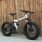 Snow Bike Folding Mtb Speed Double Disc Mountain Fat Bicycle Suspension Steel