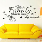 Home Wall Sticker Family Letter Quote Removable Vinyl Decal Room Backdrop Decor