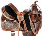 "16"" BEAUTIFUL WESTERN LEATHER TREELESS TRAIL ENDURANCE HORSE SADDLE TACK"