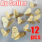 Au 3d Diy Wall Decal Stickers Butterfly Home Room Art Decor Decorations 12pcs