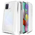 For Samsung Galaxy A21s Case Ultra Slim Built-In Screen Protector Phone Cover