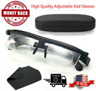Dial Adjustable Glasses Variable Focus Instant Reading Distance Vision Eyeglass