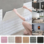 10pcs 3D Tile Brick Wall Sticker Self-adhesive Wallpaper Foam Panel Waterproof