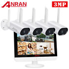 """Outdoor 1080P CCTV Security Camera System WiFI Wireless 1080P 8CH NVR 12"""" Screen"""