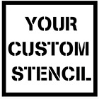 Custom Stencil Letters Numbers Logo Personalized (Reusable Mylar 6mm Thickness)