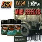 AK Interactive Weathering Sets AFV Series inc pigments earth mud dust