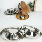 Puppy Dog Pet Cat Litter Stainless Feeder Bowl Dish Food Feeding Weaning S/M