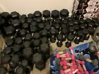 NEW CAP COATED RUBBER HEX DUMBBELLS select-weight 10, 15, 25, 30, 40LB FREE SHIP
