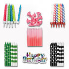 BIRTHDAY CANDLES - Cake Decorations Party Ages Boy Girl Multi Coloured Numeral