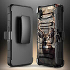 For Alcatel Apprise/Glimpse Case, Belt Clip Holster Phone Cover + Tempered Glass