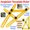 More images of Angleizer Template Tool Ruler Measures All Angles & Forms for Builders Craftsmen