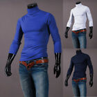 Mens Turtle Neck T-Shirt Tops Long Sleeve Casual Stretch Jumper Tee Blouse Shirt