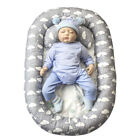 Baby Bassinet Bed Portable Baby Lounger Newborn Crib Breathable Nest Pillow
