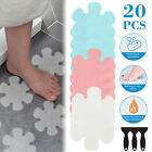 Bathtub Treads Flower Stickers Applique Mat Adhesive Non-slip Safety w/Scraper