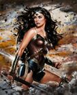 Wonder Woman Fight Stance Warrior Painting Artwork Paint By Numbers Kit DIY