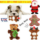 Christmas Santa Claus Puppy Chew Toys Bite Interactive Stuffed Squeaky Toy
