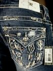 """$108 Buckle Exclusive Miss Me Jean """"Sequins Leather Inserts Fallen Wings"""" Boot"""